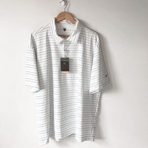 Nike Men's Golf Performance White Striped Shirt
